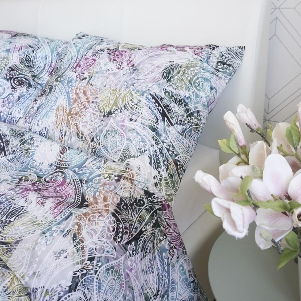 Värvilise mustriga voodipesu