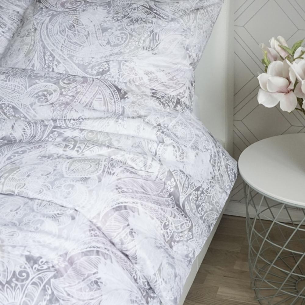 Õrna halli mustriga voodipesu - erinevad suurused