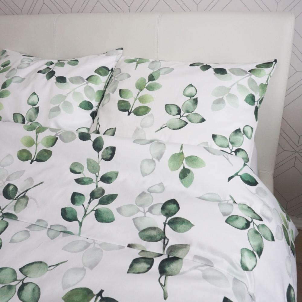 Roheliste lehtedega voodipesu - erinevad suurused